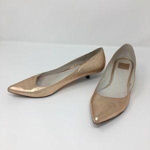 Dolce Vita Kitten Metallic Heels